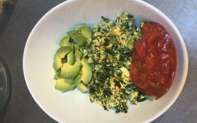 Green Eggs & Avocado Scramble